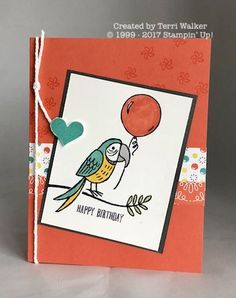 Bird Banter is a new set available in the Occasions (2018) catalog! Every image in this set is fun to color using Stampin' Blends!