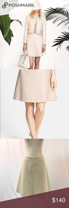 """Tory Burch Denise A-Line Skirt Excellent condition Tory Burch Denise A-Line Skirt! Women's size 14. A texturally woven cotton-blend fabric lends polish and structure to a timeless a-line skirt.  Length is approx. 23"""". Side-seam pockets, 100% silk lining, 28% rayon/1% spandex. Tory Burch Skirts A-Line or Full"""