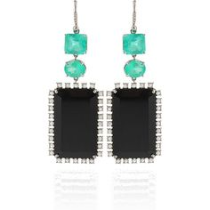 Irene Neuwirth One-Of-A-Kind Emerald and Onyx Earrings ($21,180) ❤ liked on Polyvore featuring jewelry, earrings, pave jewelry, emerald earrings, irene neuwirth, irene neuwirth jewelry and irene neuwirth earrings