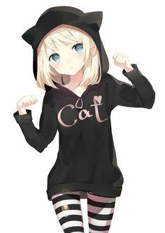 Like 219 times, 2 Comments - Anime Otaku Kawaii ( on .- Gefällt 219 Mal, 2 Kommentare – Anime Otaku Kawaii ( auf … Like 219 times, 2 Comments – Anime Otaku Kawaii … - Anime Girl Neko, Manga Kawaii, Art Manga, Chica Anime Manga, Manga Drawing, Manga Girl, Anime Art, Anime Girls, Neko Cat