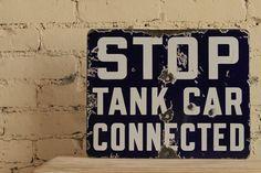 Vintage Porcelain Rail Road Car Sign by TheMasonDixon on Etsy, $65.00