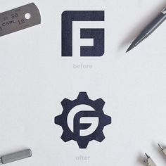 Full logo rebranding for company GEORGE FASTER (G+F in the logo) You can find Logo branding and more on . Letter G, Initial Letters, Negative Space Logos, Find Logo, Fun Challenges, Logo Concept, Monogram Logo, Hand Lettering, Typography Letters