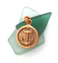 Copper Anchor Charm  Boat Anchor  Naval Ship by jewelrybymatt