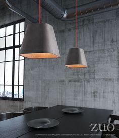 Zuo Promise Ceiling Lamp Concrete Gray – Modish Store