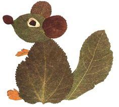 kokokoKIDS: Fall Leaves Craft Ideas: squirrel