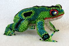 Beaded Frog from Guatemala, 4 inches long