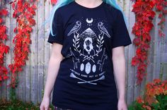 Witch Mountain Tee, Unisex Fit 100% Black Cotton T-shirt, Witchy Top
