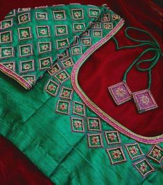 Embroidery blouse designs pink 37 Ideas for 2019 Cutwork Blouse Designs, Pattu Saree Blouse Designs, Simple Blouse Designs, Stylish Blouse Design, Bridal Blouse Designs, Blouse Neck Designs, Hand Work Blouse Design, Aari Work Blouse, Mirror Work Saree Blouse