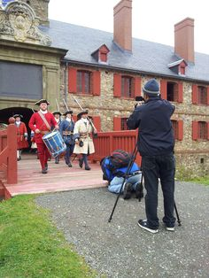 Chef Vicky`s film crew in action at Fortress of Louisbourg National Historic Site