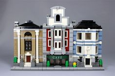 Mini modulars by moctown Legoland, Lego City, Lego Minecraft, Lego Lego, Minecraft Skins, Minecraft Buildings, Mini Cafe, Minis, Micro Lego