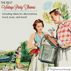 I adore throwing parties, especially with a retro aesthetic. Here are all of my vintage party theme ideas in one place for you to be inspired!