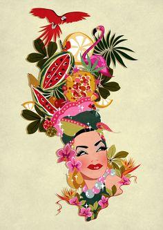 Party illustration vintage inspiration New ideas Banana Art, Cuban Art, Illustrations, Graphic Design Illustration, Caricature, Watercolor Art, Pop Art, Character Design, Artsy