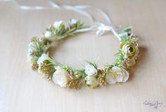 Wedding flower crown Bridal floral crown Ivory hair wreath Ivory wedding headband Cream Roses  head piece Boho wedding halo Ready to ship #ivorywedding #bohowedding #floralcrown #weddingfloralcrown #bridalcrown #roseshairwreath