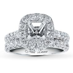 Wedding Rings, Watches, Diamonds and more. Jared® the Galleria of Jewelry, the selection of Ordinary Jewelry Stores 2 Carat Engagement Ring, Engagement Ring Settings, Neil Lane Wedding Sets, Neil Lane Rings, Old Rings, Round Diamonds, Jewelry Stores, Diamond Jewelry, Wedding Bands
