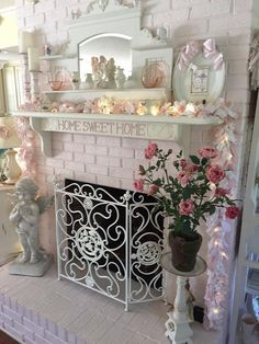 Fairynests I Love The Mirrored Piece Above Mantel Remember This Idea Using One