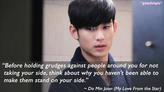 You Who Came From the Stars / Man From the Stars / My Love From the Star quote : Kim Soo Hyun as Do Min Joon (ep 9)