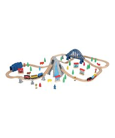 Look at this Wooden Tracks Rocky Mountain 100-Piece Wooden Train Set on #zulily today!