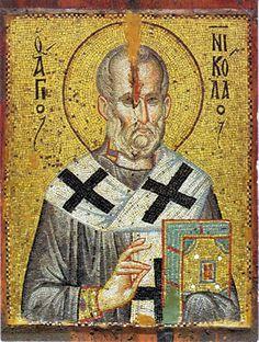 Mosaic St Nicholas Icon