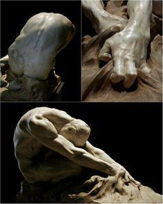 The Fight of Man Against Evil. 1908.Gaetano Cellini. Italian 1873-1937. marble.collage Hadrian6.