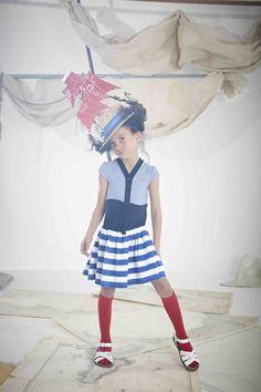 Ships ahoy, nautical stripes for Jessie and James kids fashion spring 2015
