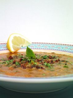 Turkish Lentil Soup with Mint & Sumac (a good way to use that kilo of sumac I bought in Jordan! )