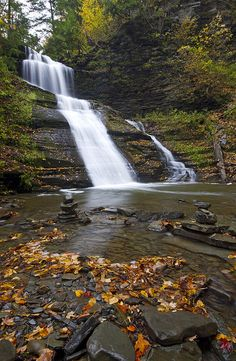 Main Waterfall on Tannery Creek  in Naples, NY