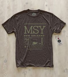 New Orleans   MSY tee from Pilot and Captain – $32