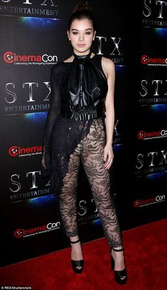 See through: Actress Hailee Steinfeld wore sheer lace pants to the CinemaCon event in Las Vegas on Tuesday  http://www.mydoterra.com/grantshort/#/essentialOils101