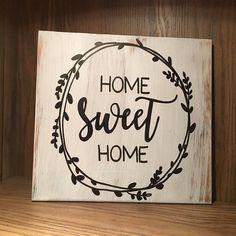 1 Pcs Decorative Rustic Wood Signs Home Sweet Sign Plaque Housewarming efolki-d. - 1 Pcs Decorative Rustic Wood Signs Home Sweet Sign Plaque Housewarming efolki-decor farmhouse deco - Design Seeds, Sweet Home, Rustic Home Interiors, Tips & Tricks, Rustic Wood Signs, Wooden Signs, Letter Patterns, Wooden Ornaments, Layout