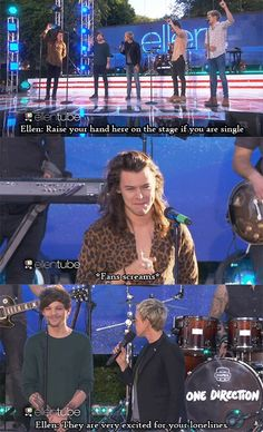 so tell me why did Louis raise his hand if he is the father of that baby and why did Harry and Louis smile like idiots. Ellen knows....