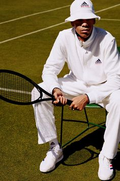 adidas and Palace Join Forces for Clean Tennis Collection Tennis Tournaments, Adidas, Wimbledon, Tennis Racket, Panama Hat, Palace, Women Wear, Warm, Sports