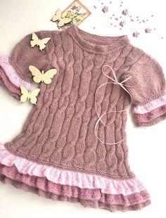 Baby jumper with shot sleeves of alpaca yarn/Baby jumper/knit