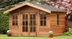 A structure built in the garden or your backyard is called a garden building. It could be a shed or Garden Buildings, Garden Structures, Outdoor Structures, Building A Sauna, Building A House, Small Summer House, Sauna Room, Backyard Sheds, Planning Permission
