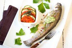 Atelier Grill - Recette de Truite portion au tian de légumes et beurre de printemps