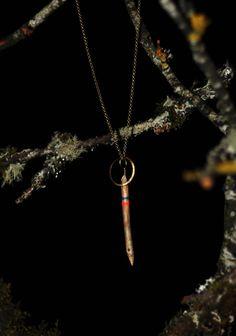 Worn Path Driftwood and brass necklace NESIKA
