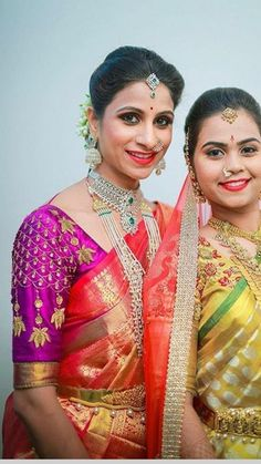 Stylish Blouse Design, Silk Saree Blouse Designs, Sari Blouse Designs, Designer Blouse Patterns, Bridal Sarees South Indian, Blouse Desings, Maggam Work Designs, Maggam Works, Work Sarees
