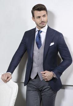 Sartoria Rossi - Jacket Half Morning Suit - Dark Blue