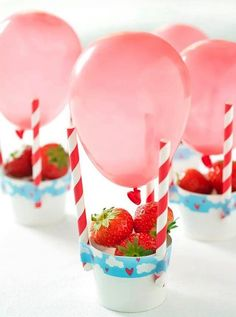 diy affordable / cheap centerpieces for your event. bridal shower decor by alisha Party Treats, Party Snacks, Party Appetizers, Birthday Balloons, Birthday Parties, Birthday Table, Birthday Kids, Balloon Table Centerpieces, Fete Emma