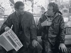 Harrison Ford and Ridley Scott on the set of Blade Runner
