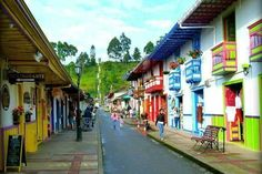 Salento. Colombia Nazca Peru, Trujillo Peru, Aesthetic Backgrounds, Vibrant Colors, Street View, Vacation, World, Travel, Jeep Willys