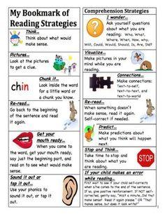 Free! Reading Strategies Bookmark | Teaching: General | Pinterest ...