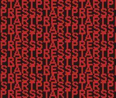 8-bit Press Start fabric - smuk - Spoonflower