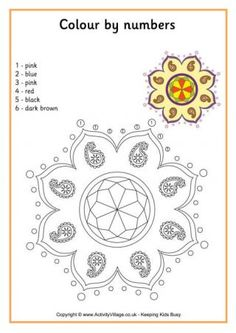 Rangoli designs. Patterns for children to colour. Could be ...