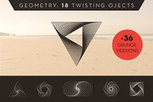 Geometry: 18 twisted objets