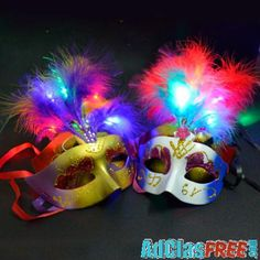 Everything Else , Luminous Feather Mask Features: Brand new and high quality Very beautiful mask, can wear and can be decoration Suitable . Glow Party Supplies, Halloween Led Lights, Diamond Party, Feather Mask, Beautiful Mask, Mask Party, Party Bags, Festival Party, Decoration