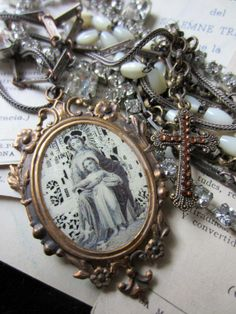 'like a prayer' necklace by The French Circus on Etsy