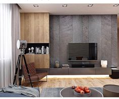 Living room tv wall ideas storage 36 Ideas for 2019 Wall Cabinets Living Room, Tv Wall Cabinets, Living Room Tv Unit, Living Room Interior, Living Room Decor, Home Living Room Wallpaper, Modern Apartment Design, Modern Interior Design, Painel Tv Sala Grande
