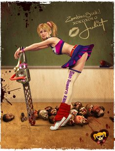 Juliet Starling - Lollipop Chainsaw  One of the silliest games ever, but that's why I love it! :-)