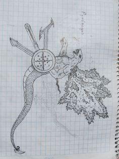 diseño de hibrido entre serpiente y hombre alado