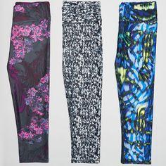 Style Dilemma: Welchen Print würdest Du wählen?  A. Dark Romance  B. Confetti  C. Electric Zebra  Welcher Print ist Dein Favorit? Jetzt mit abstimmen!  #Leggings #Capris #Print #Sportswear